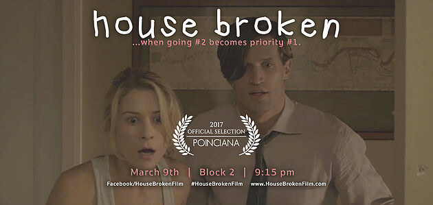 HOUSE BROKEN Nominated for BEST INTERNATIONAL FILM at Poinciana