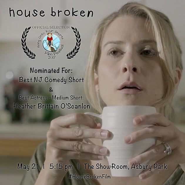 Were nominated for BEST NJ COMEDY SHORT and BEST ACTRESS